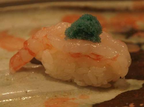 松江市内『大鯛寿司』の十二かん、その九赤海老/ホッコクアカエビ
