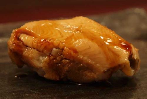 松江市内『大鯛寿司』の十二かん、その十煮穴子/マアナゴ